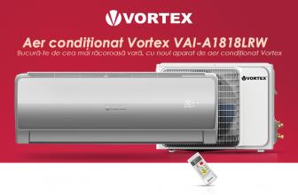 Aparat de aer conditionat cu inverter Vortex VAI-A1818LRW, 18.000BTU, A++/A+